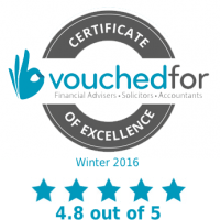 VouchedFor Certificate of Excellence 2016
