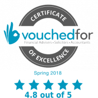 VouchedFor Certificate of Excellence 2018
