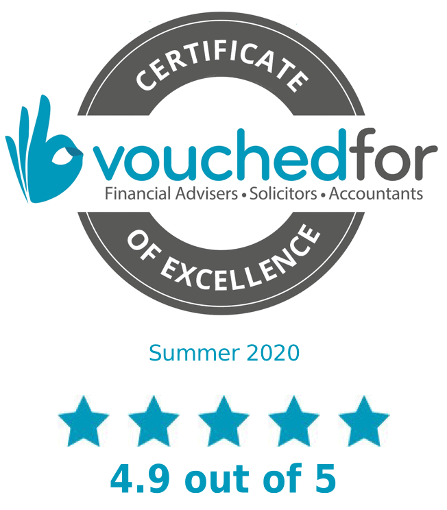 VouchedFor Certificate of Excellence 2020
